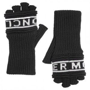 NWT Moncler Long Fingerless Gloves Large Black